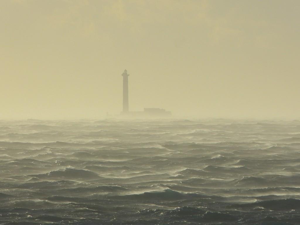 Etat de la mer dans la tempête de mistral, samedi 2 février 2012, près de Marseille